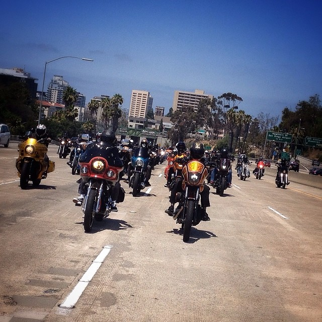 san diego customs : hotbike fxr highway shot