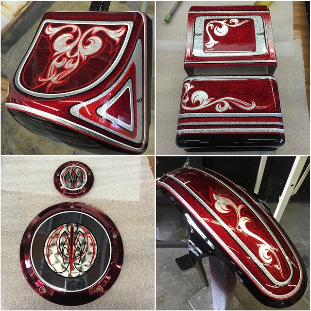 San Diego Customs FXDX project paint by HotDog Kustoms -